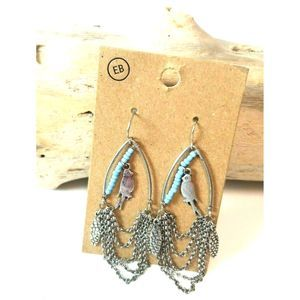 Earth Bound Trading NWT earrings silver birds